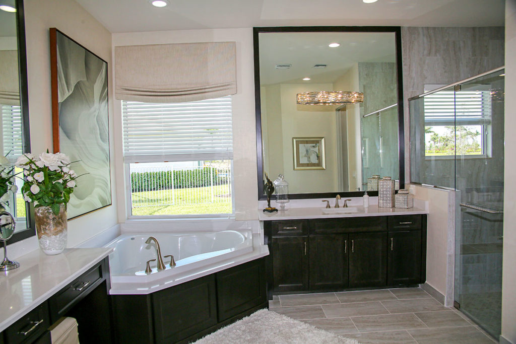 master bathroom of the Carlyle model