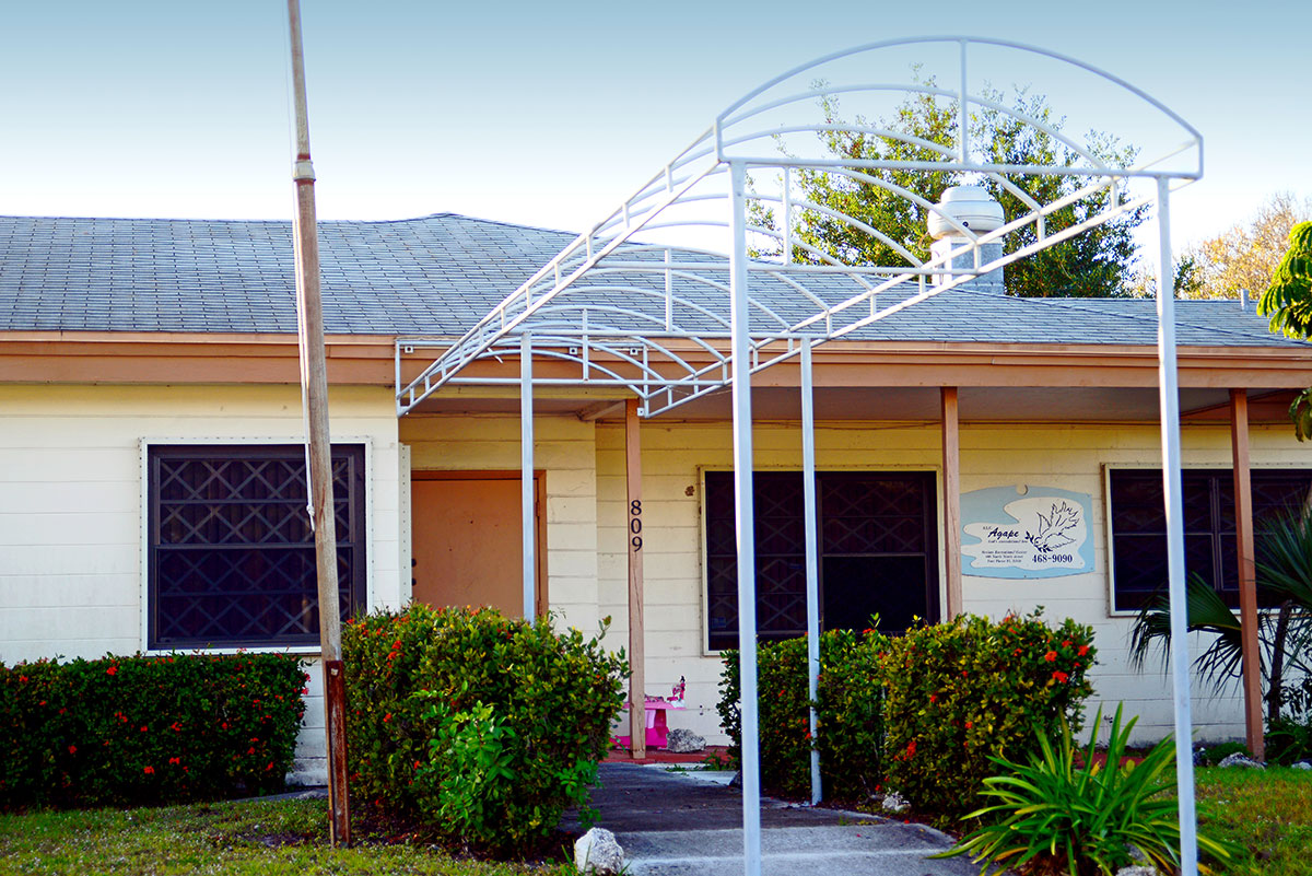 the former St. Lucie County Welfare Home, where Hurston died