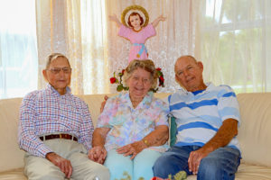 Joseph Guettler, right, Mary Elizabeth Noelke, George E. Guettler