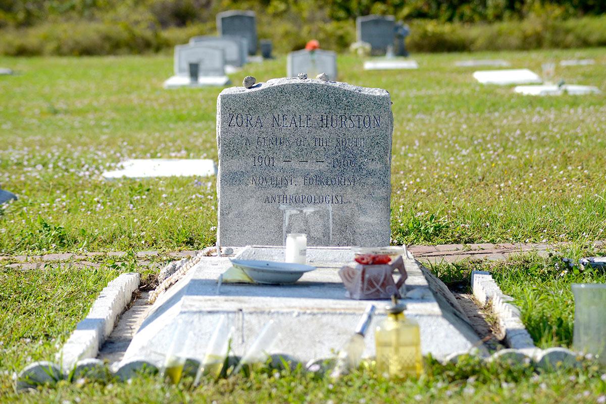 Hurston's gravesite