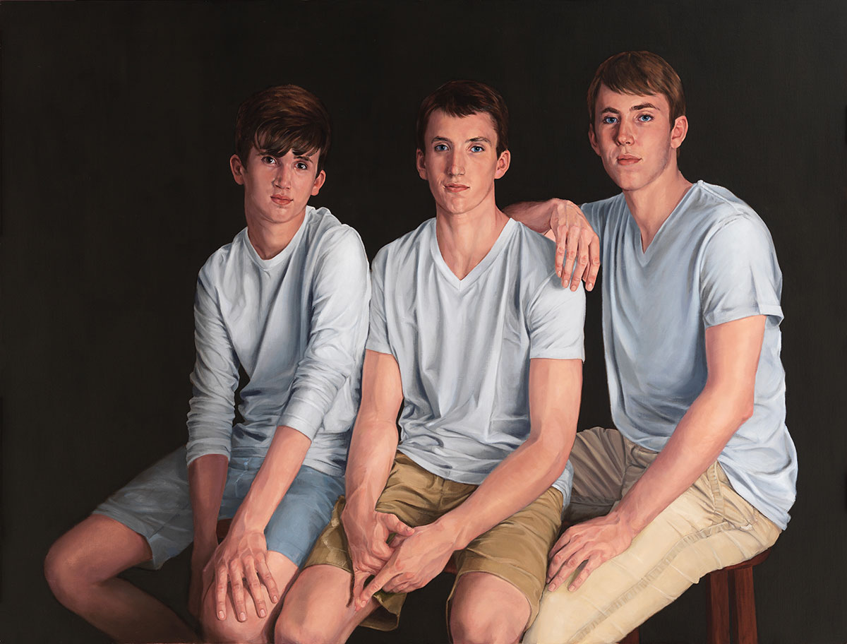 Three brothers from Malibu, Calif., posed for this portrait.