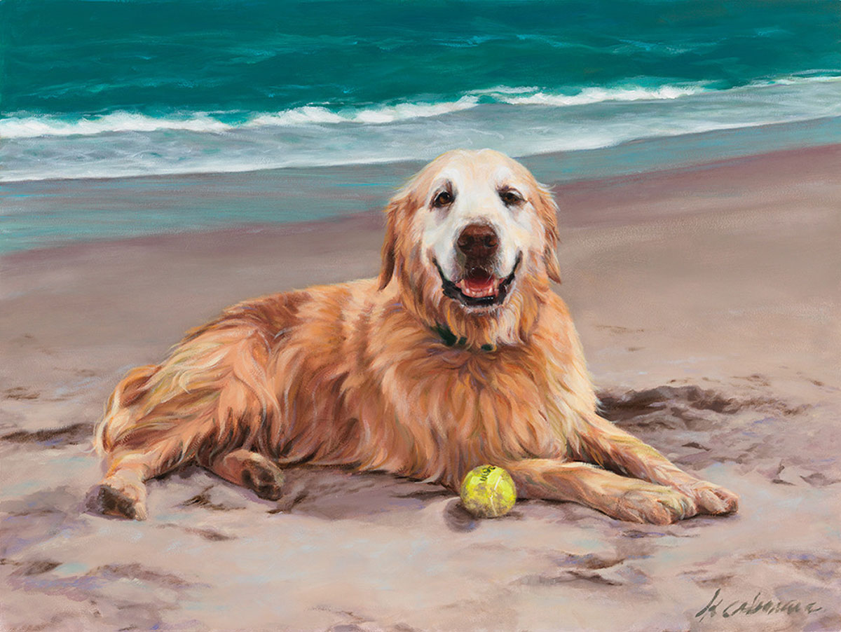 depiction of a golden retriever