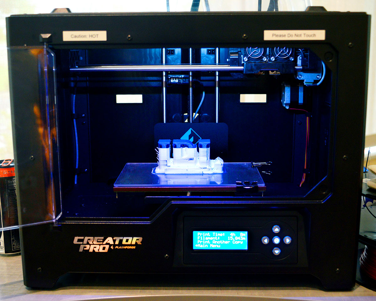 3-D Printer housed at the Lewis branch