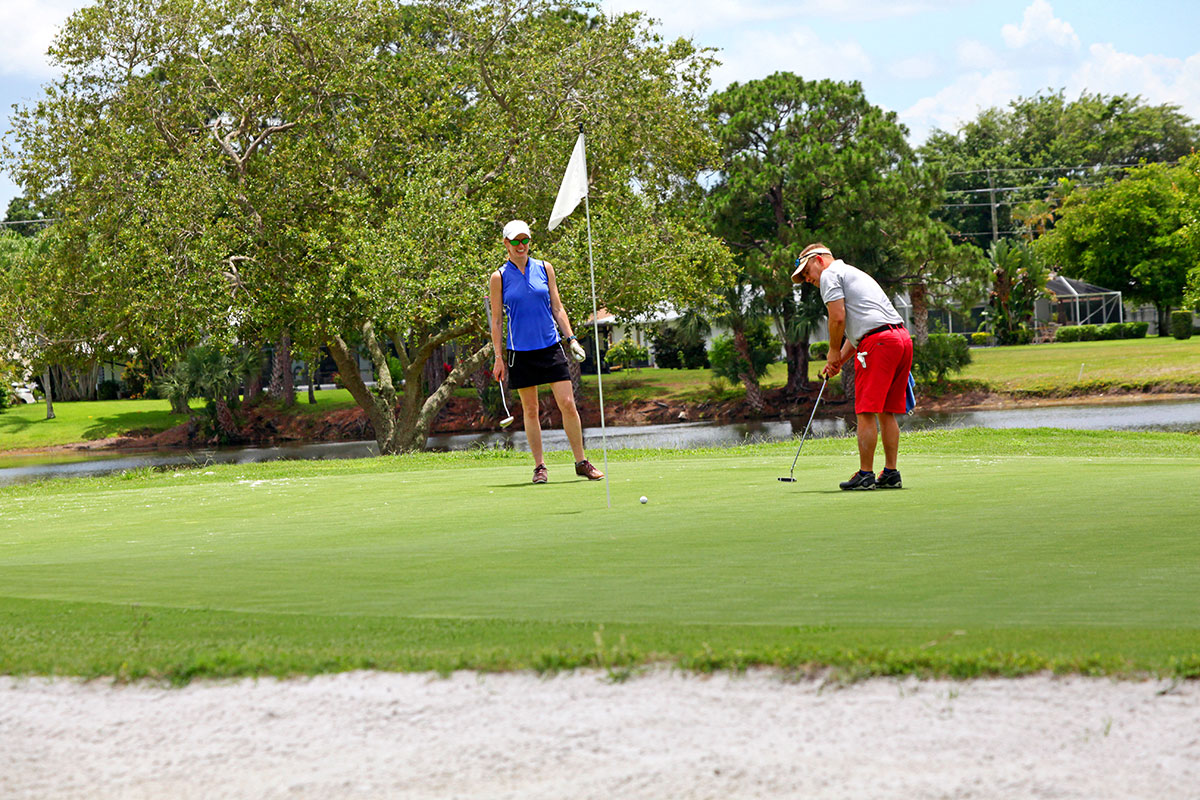 Golfers are out on the city's Saints Golf Course