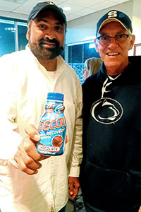 Pete Bordi and former Pittsburgh Steeler, Franco Harris