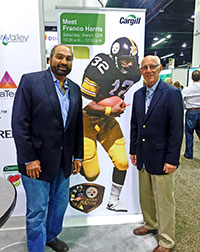 Pete Bordi and his business partner, Franco Harris