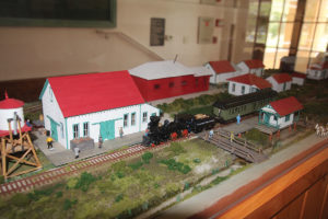 A diorama of the future Historic Railroad Village in Fellsmere