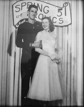 Gene and his date, Dorothy Mathews