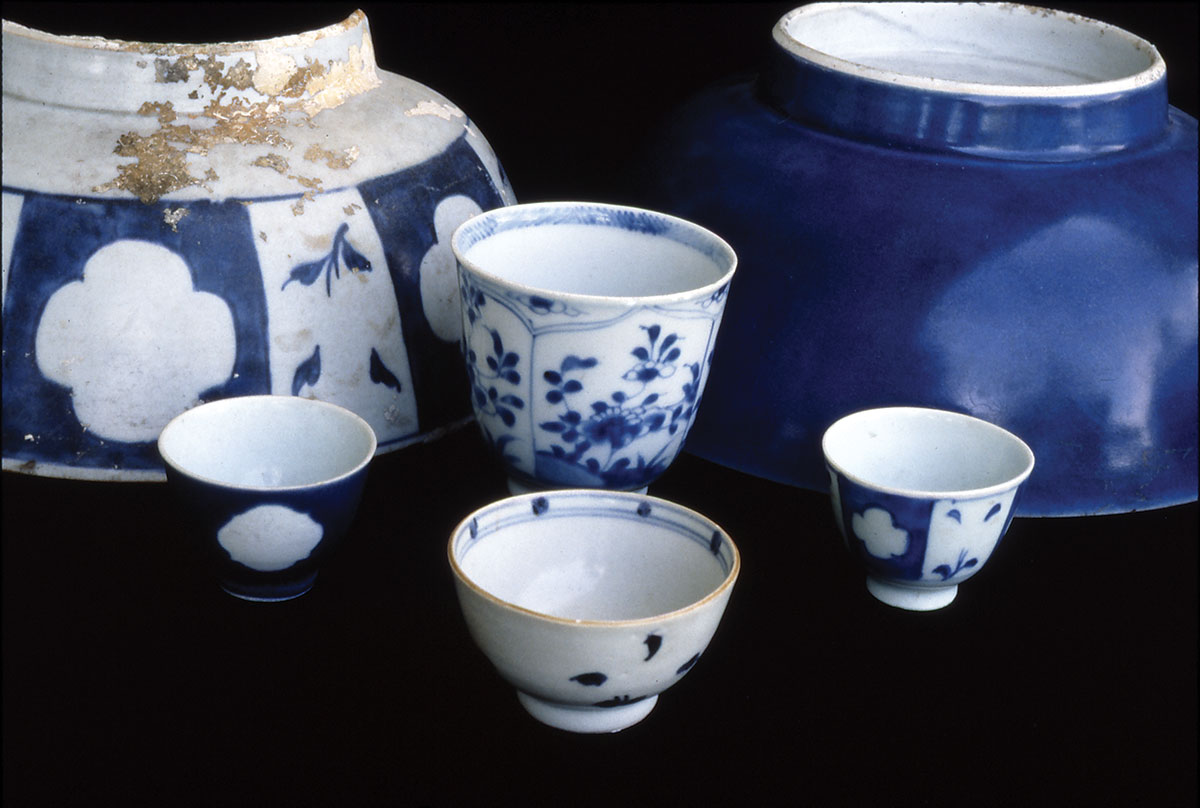 costly porcelain from China