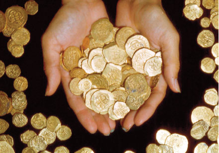 doubloons recovered from the 1715 Plate Fleet recovered off the shores of the Treasure Coast