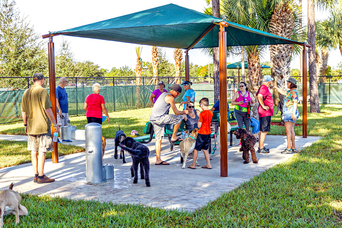 The city has four dog parks