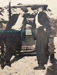 Hanford Mobley, left, and George F. Mario