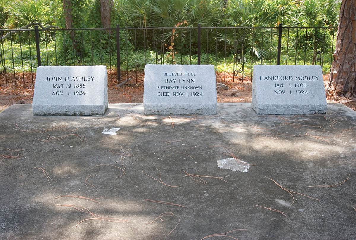 Ashley, Lynn and Mobley were buried in the Little Ashley Cemetery