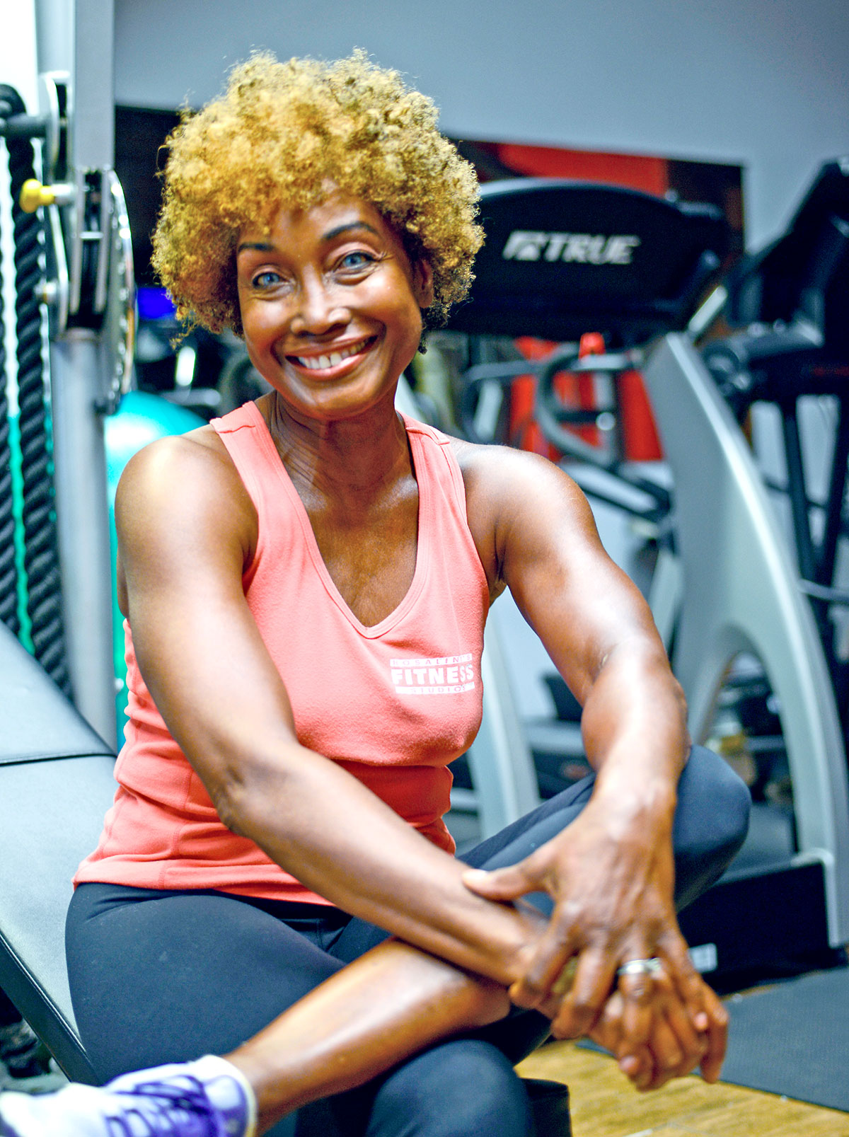 Rosalind Neilen, owner and fitness coach of Rosalind's Fitness Studios