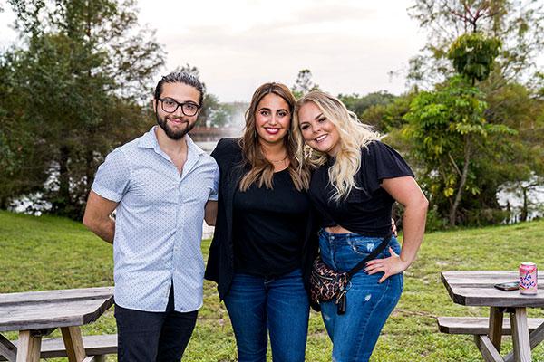 Ryan Chimelis, Aviana Shapiro and Samantha Scola Harris