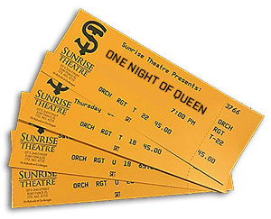 SUNRISE THEATRE TICKETS