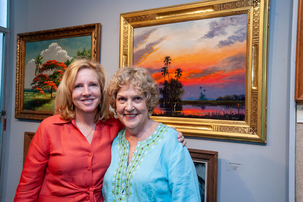Katie with daughter Catherine Grigas at the A.E. Backus Museum, where she was on the board since 1990.