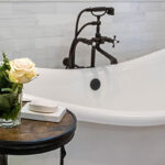curved Victoria and Albert tub