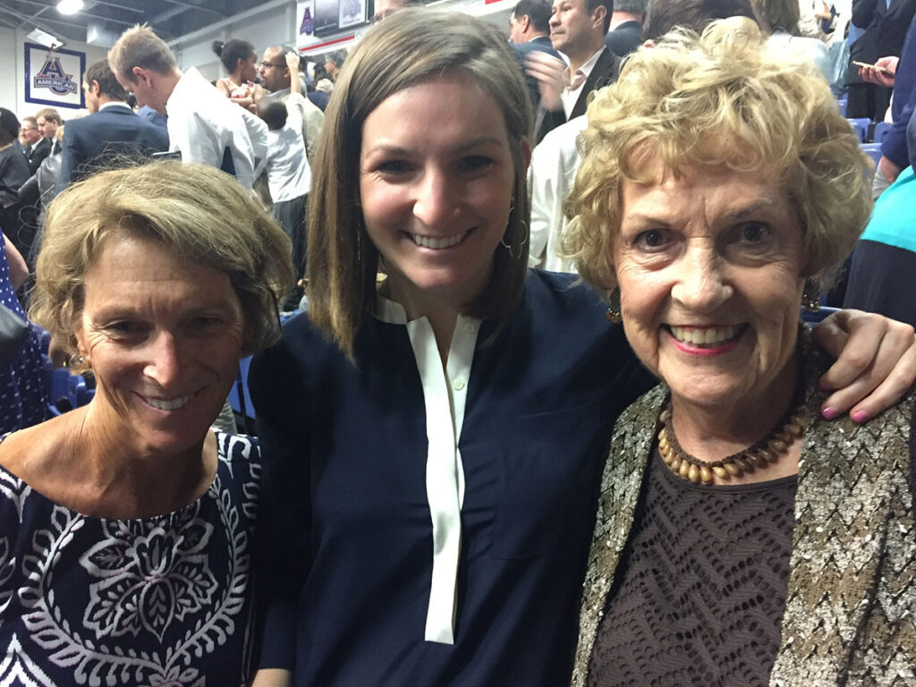 Katie with granddaughter Lucie Enns and daughter-law Gretchen Enns at Lucie's law school graduation in Washington, D.C.