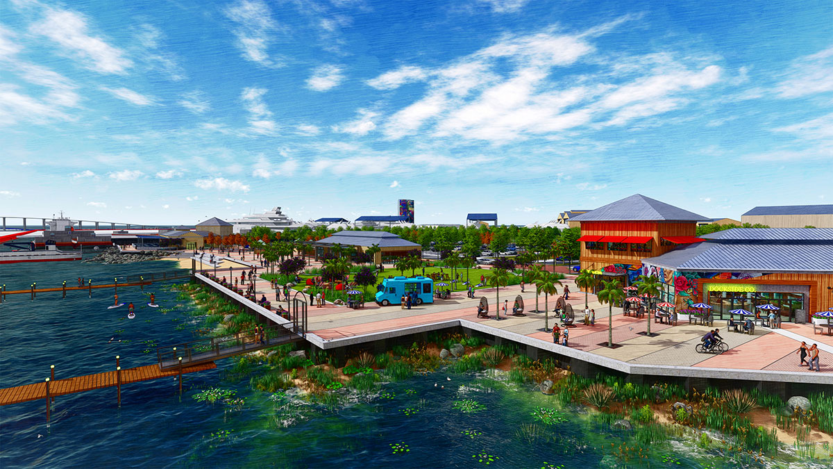 A rendering of Harbour Pointe Park
