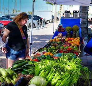 famous Saturday farmers market