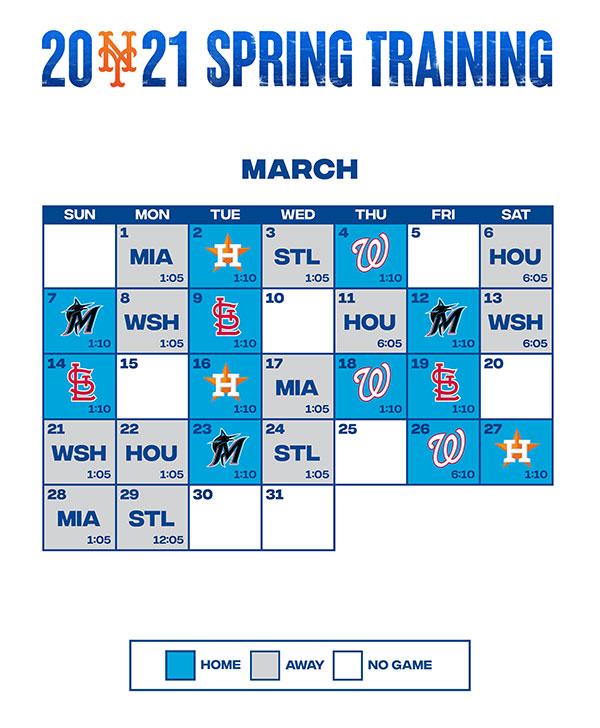 Mets Spring Training Schedule 2021