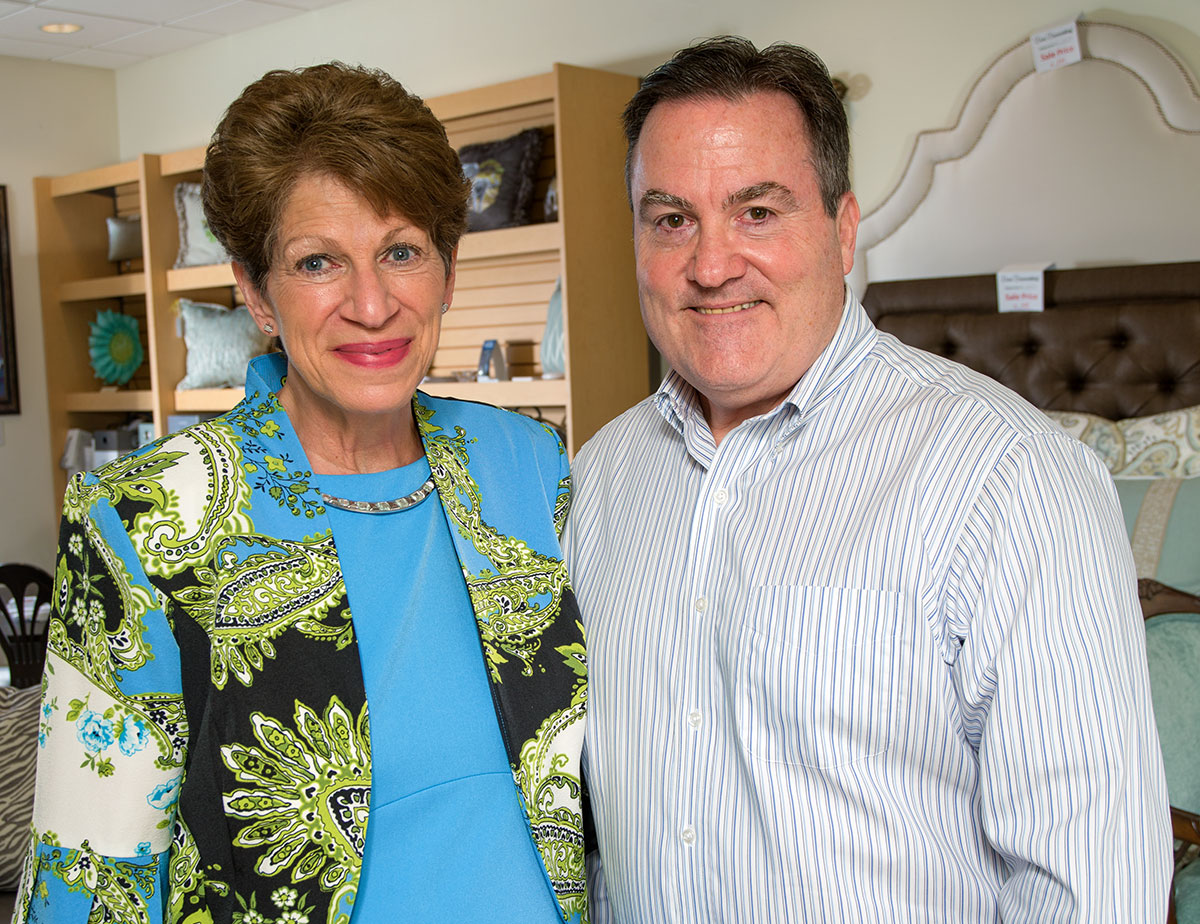 Kathy and David Dow of Dow Decorating