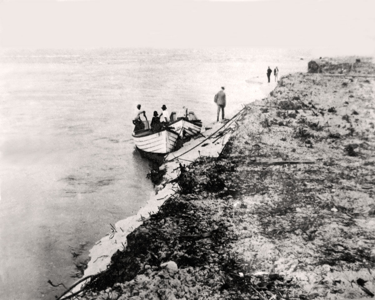 Boats tour at new inlet jetty May 12, 1921