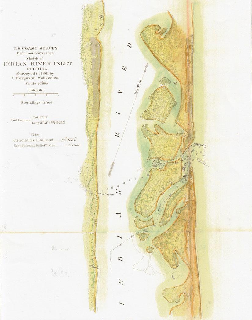 Coastal survey map 1861