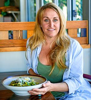 Cafe owner Amber Eichling