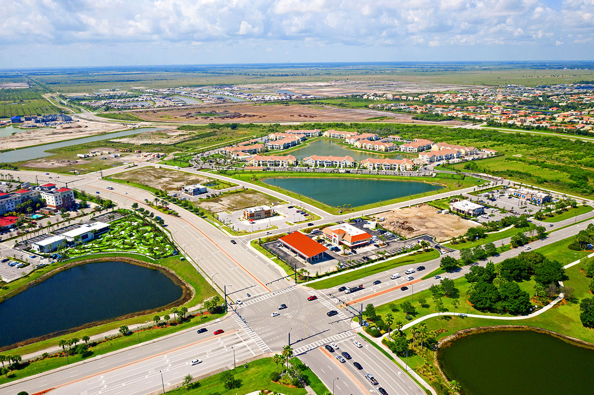 Port St. Lucie aerial view