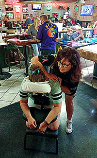Step by Step provides on-site chair massages