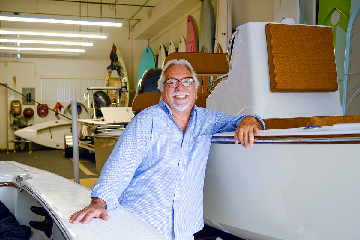 Mark Castlow, owner of Dragonfly Boatworks in Vero Beach