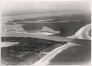 aerial shot of the new Fort Pierce Inlet