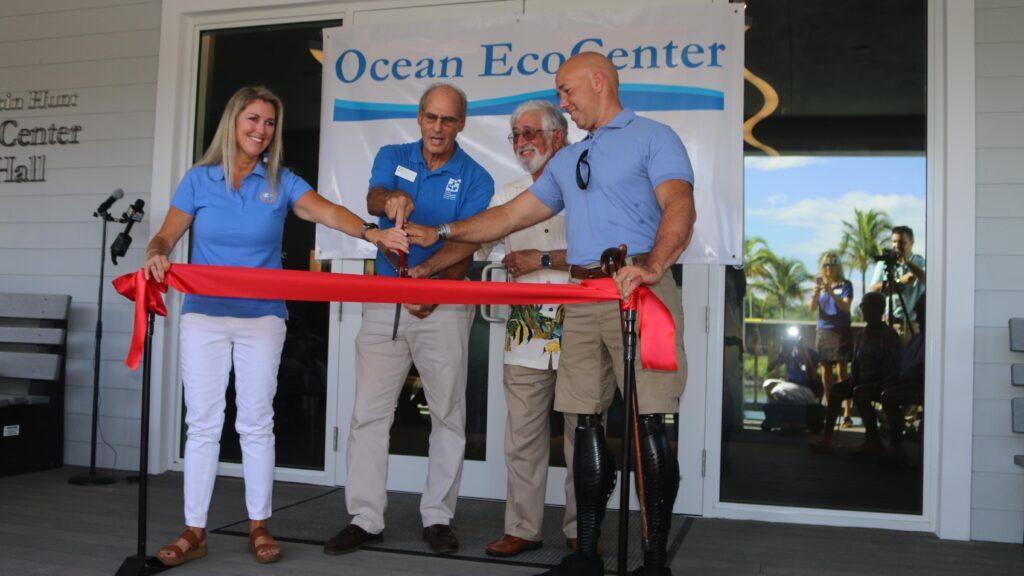 Florida Oceanographic Society's new eco-center ribbon cutting photo